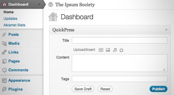 Design in WordPress 3.2 (1/2)