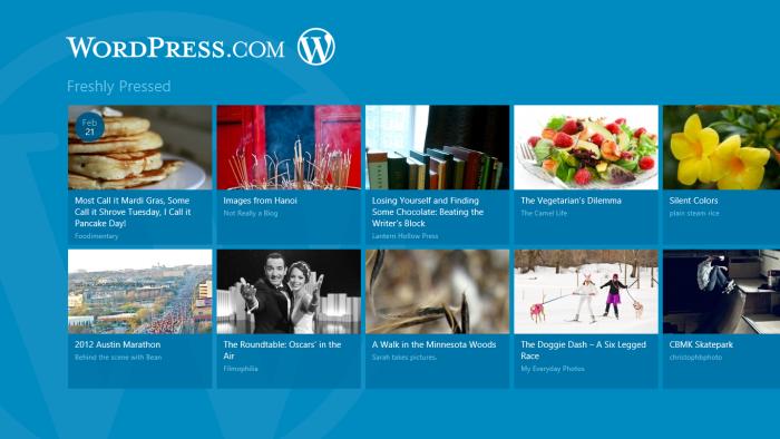 WordPress.com for Windows 8