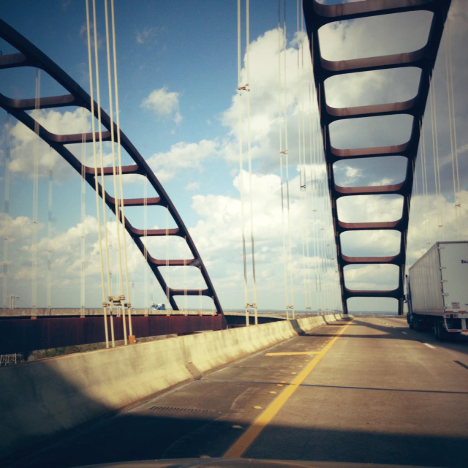 "The colloquially-named ""Dolly Parton Bridge"" over the Mobile River in Alabama"