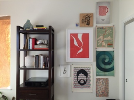 Artwork from friends, family, and those I admire sets the tone for the office.